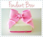 fondant bow