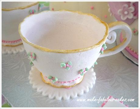 goma de pegar taza de té