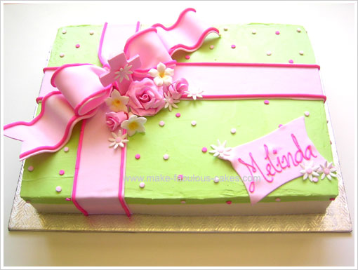 Gift Box Cake Decoration : Gift Box Confirmation Cake