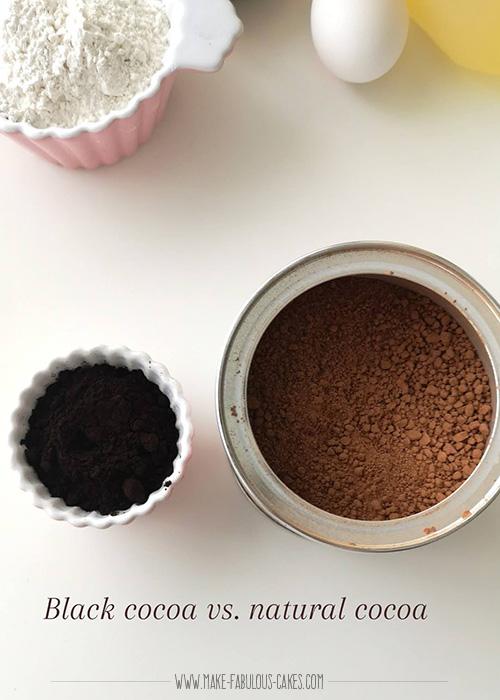 black cocoa powder versus natural cocoa powder