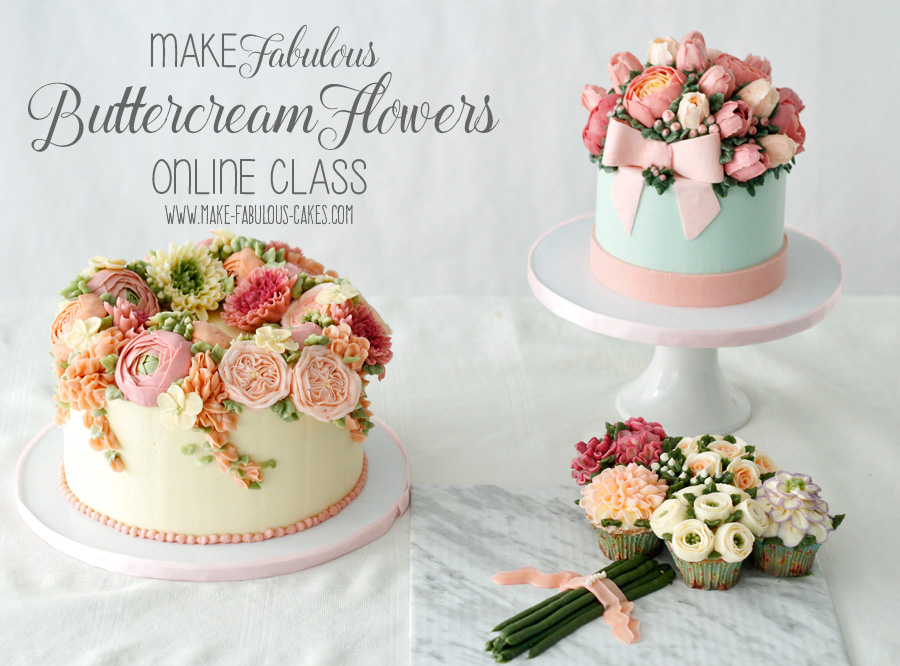 Cake Decorating Cream Flowers : How to Make Buttercream Flowers Online Class