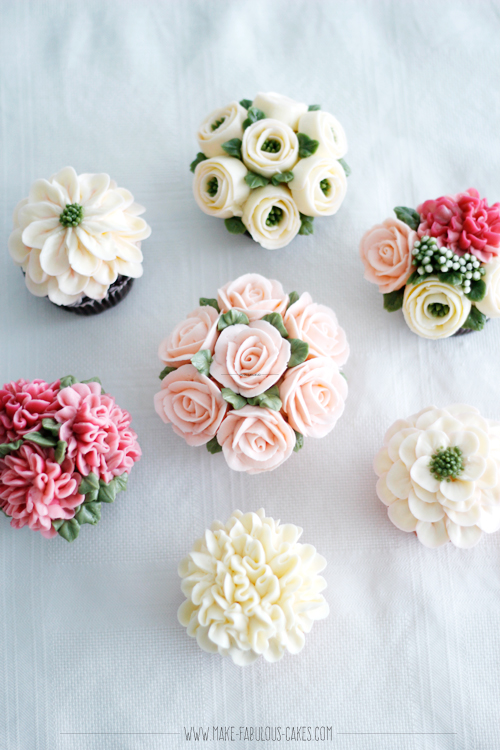 Cake Decorated With Piped Roses : How to Make Buttercream Flowers Online Class