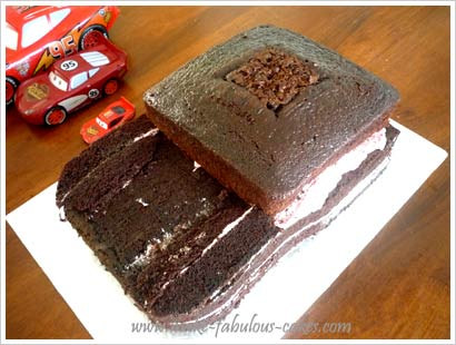How To Make A Race Car Cake Step By Step
