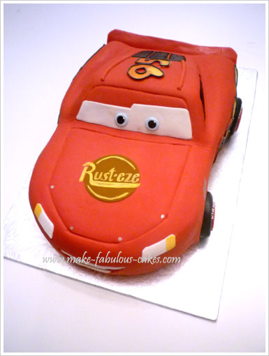 How To Make A Lightning Mcqueen Cake Tutorial