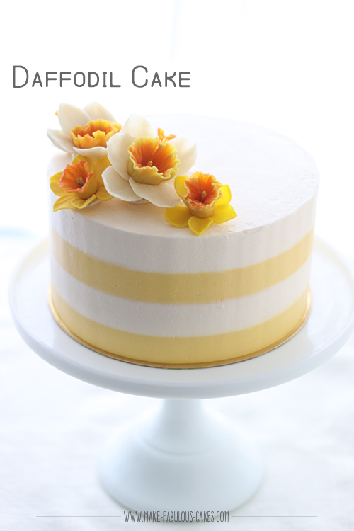 Daffodil Cake Recipe with bean paste daffodil flowers