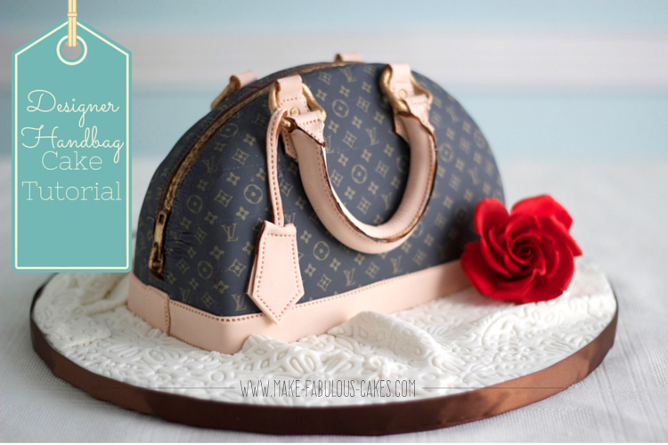 LV handbag cake tutorial