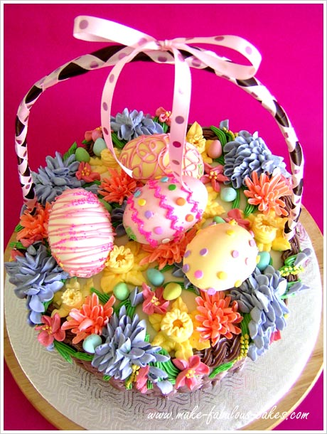 Make Handle Easter Basket Cake