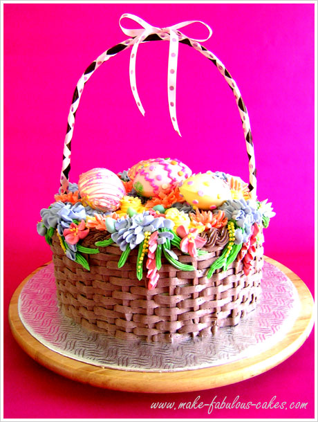 Easter basket cake negle Gallery