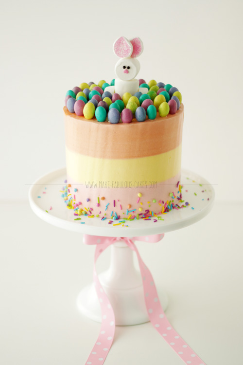 easter bunny cake ideas easter cake with marshmallow bunny 3786