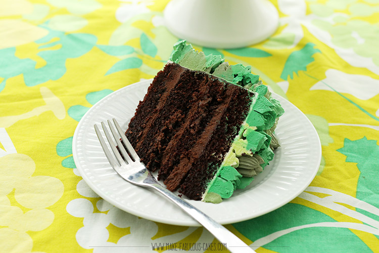 Guinness beer cake slice