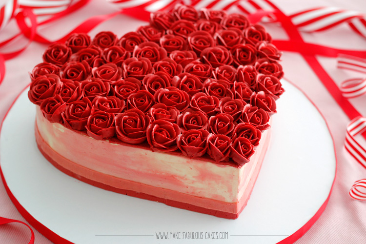 Cake Images Rose : I Heart Rose Cake