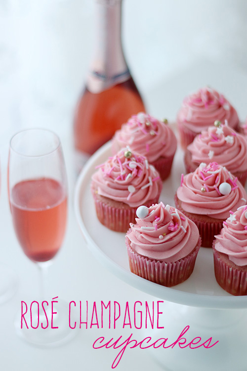 Rosé Champagne cupcakes