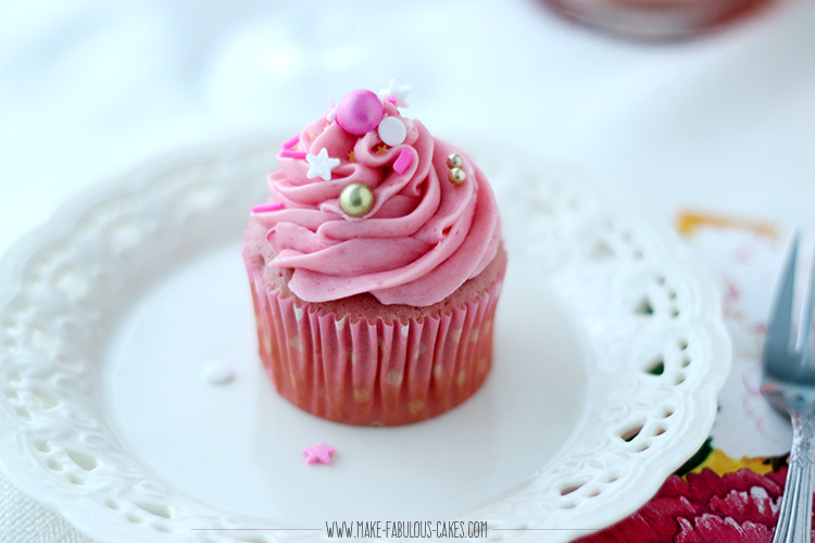 Rosé Champagne cupcakes