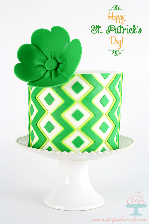 St Patricks Day Lime Cake