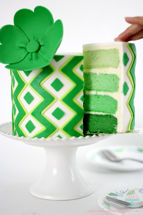 Lime Green Ombre Cake