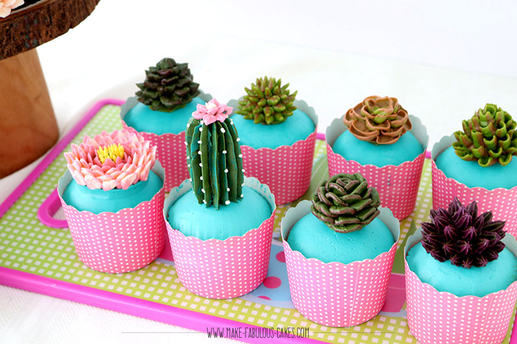 buttercream succulents tutorial