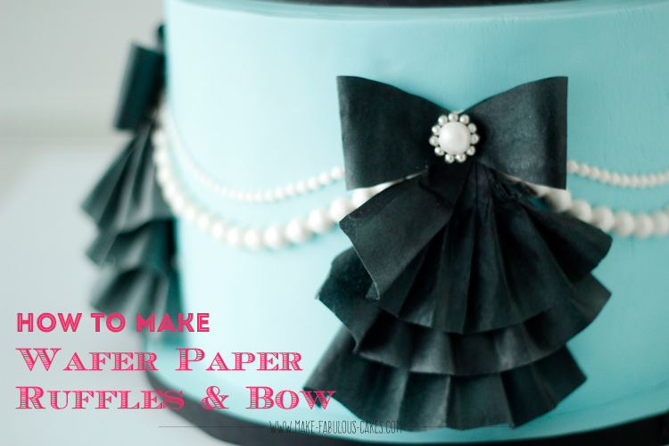 How to make wafer paper ruffles & bow