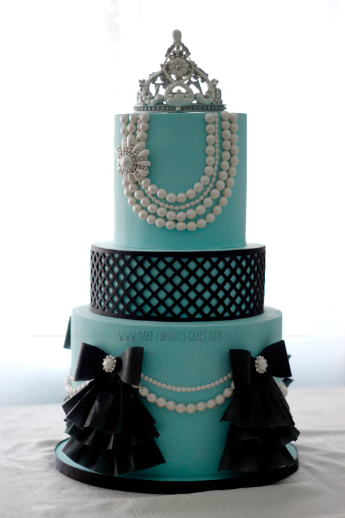 Breakfast At Tiffanys First Birthday Cake