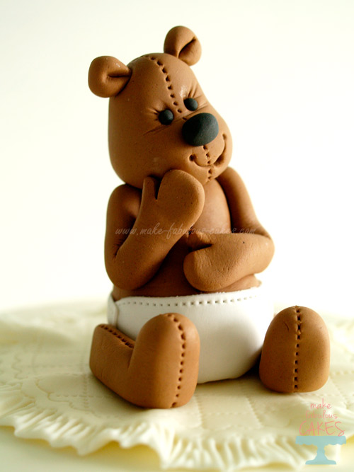 Gum paste teddy bear