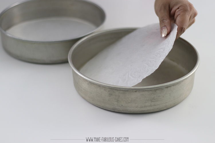 cake baking tip: line pans with parhment paper