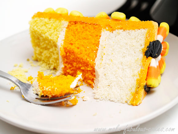 candy corn piece of cake