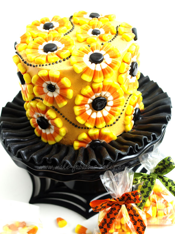 candy corn cake - Candy Corn Halloween Decorations