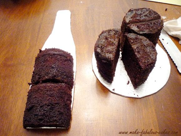 bottle cake template
