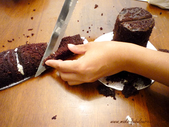 carve a bottle cake