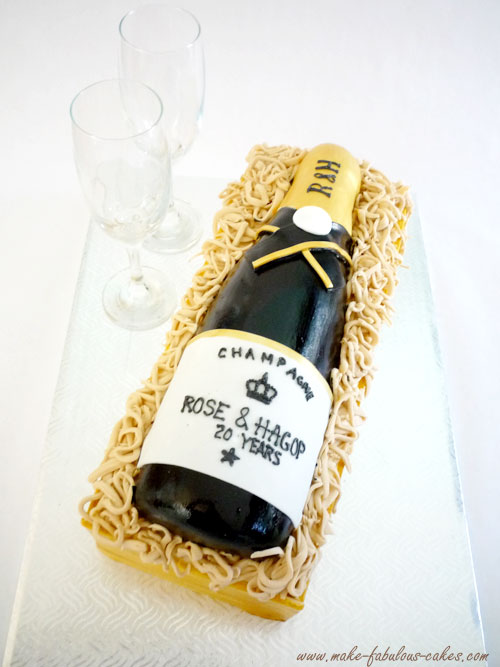 How To Make Wine Bottle For Cake