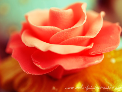 couture cupcakes rose
