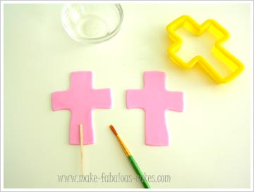how to make a cross cake topper