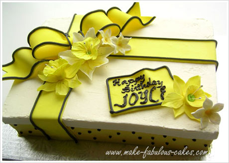 Daffodil cake i love gift box cakes especially when you are giving the cake as your gift serves a double purpose its your gift in a form of cake that everyone can negle Choice Image