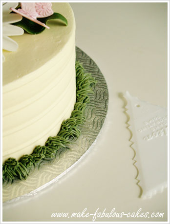 Cake Made With Wilton Icing Comb