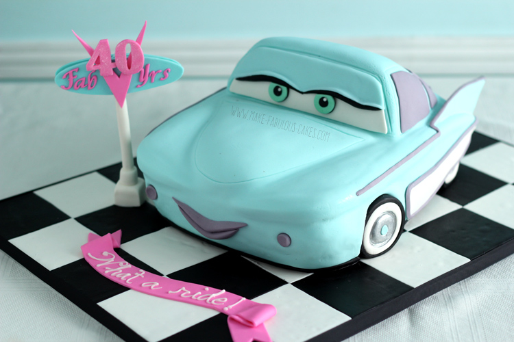 My 40th Birthday Cake How To Make A Flo Car Cake