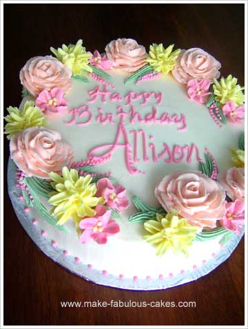 make a flower birthday cake, Beautiful flower
