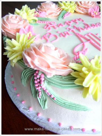Sensational Make A Flower Birthday Cake Personalised Birthday Cards Beptaeletsinfo