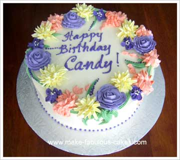 Make A Flower Birthday Cake