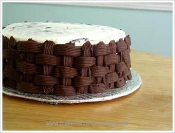 flower cake basketweave