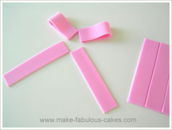 fondant bow how to
