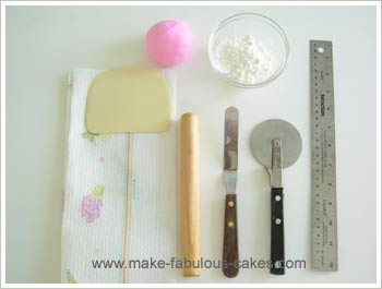 how to cut fondant shapes without cutter