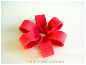 how to make fondant ribbon loops