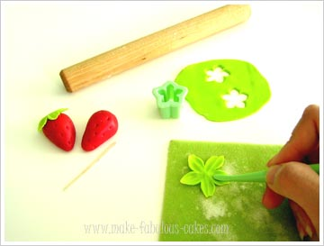 fondant strawberries