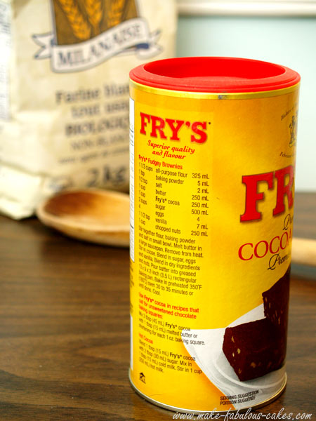 Fry's cocoa brownie recipe