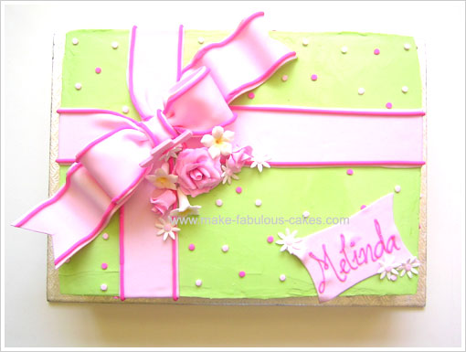 Gift Box Confirmation Cake