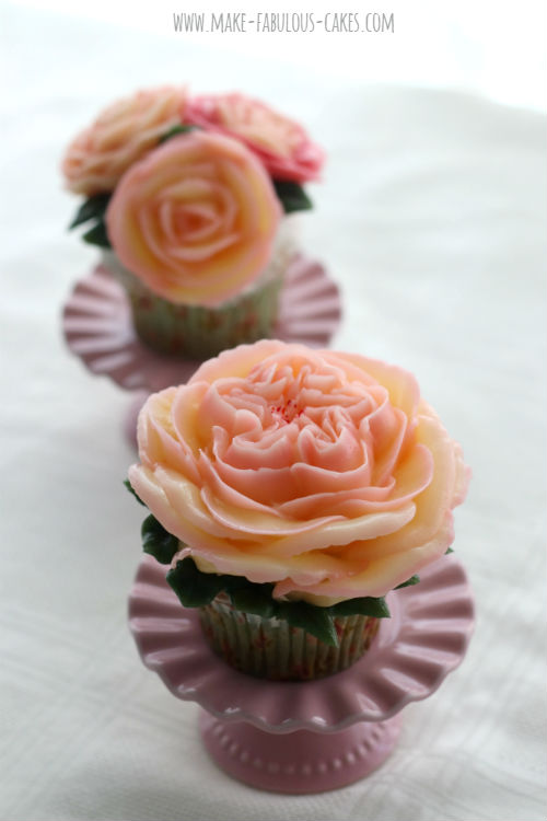 English Rose using the glossy buttercream