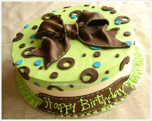 Birthday Cake Decor Ideas : Birthday Cake Decorating: A Stylish Modern Cake