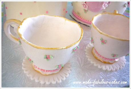 gum paste tea cup tutorial