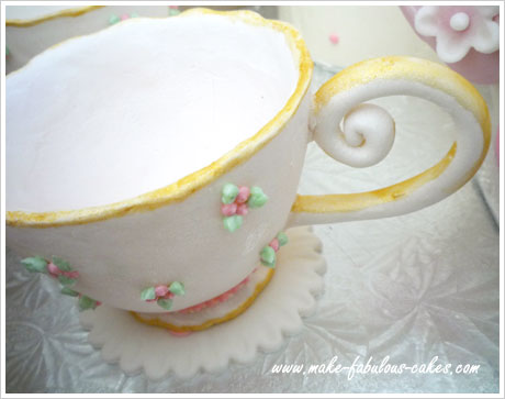 gum paste teacup handle