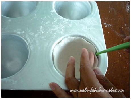 how to make gum paste teacup