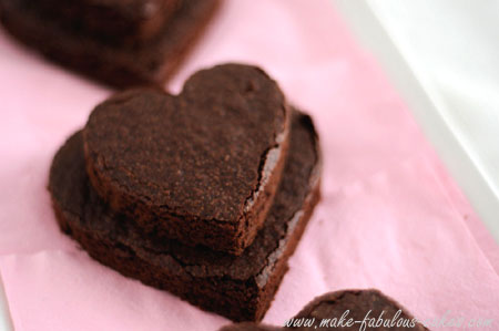 heart brownie